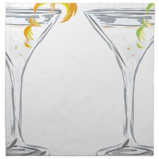 Martini Drink Sketch Napkin