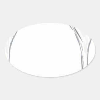 Martini Drink Sketch Oval Sticker