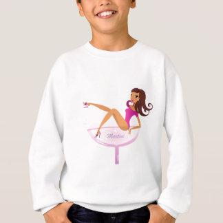 Martini girl original illustration sweatshirt