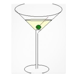 Martini Glass 21.5 Cm X 28 Cm Flyer