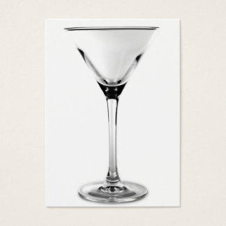 martini glass business card