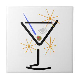 Martini Glass Ceramic Tile