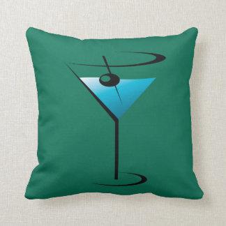 Martini Glass Cocktail Throw Pillow Home Decor