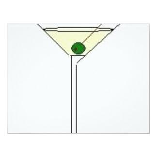 Martini Glass 11 Cm X 14 Cm Invitation Card