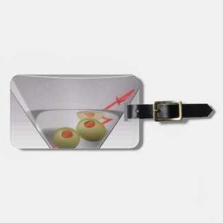 Martini glass luggage tag