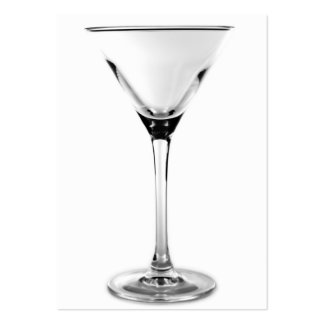 martini glass pack of chubby business cards