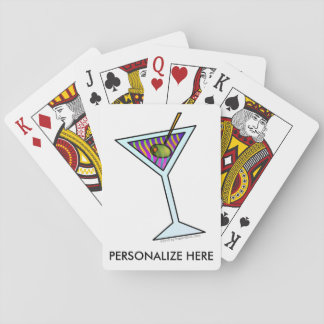 MARTINI GLASS PLAYING CARDS