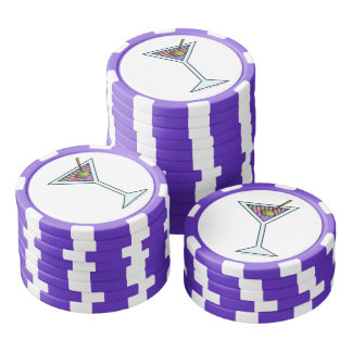 MARTINI GLASS POKER CHIPS