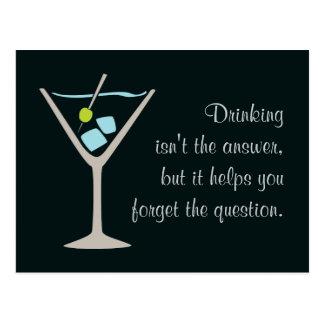 Martini Glass Postcard