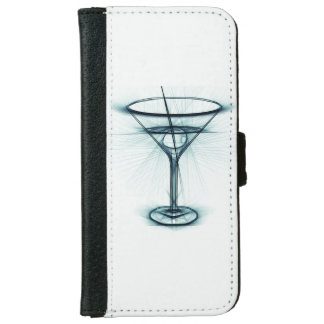Martini Glass Sketch iPhone 6 Wallet Case