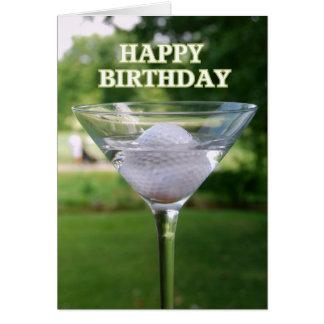 Martini Golf Ball Birthday Card