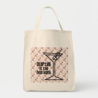 Martini is the New Black (with backgroung) Tote Bag