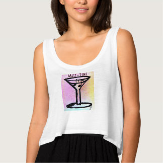 Martini Jazz-Tini Printed Art Singlet