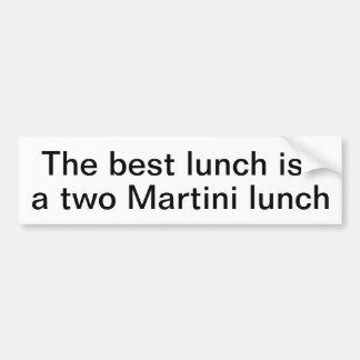 Martini lunch bumper sticker