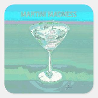 martini madness blue stickers