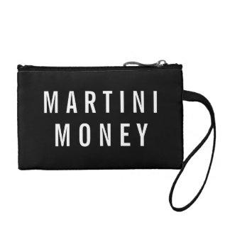 Martini Money   Black & White Quote Coin Purse