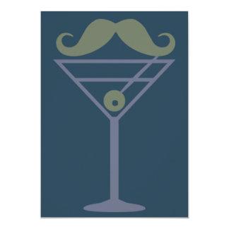 Martini Moustache custom invitation