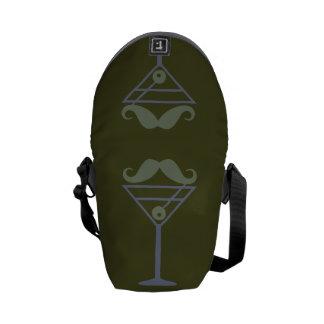Martini Moustache custom messenger bag