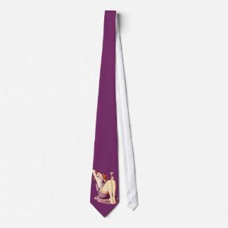 Martini Pinup Girl Necktie