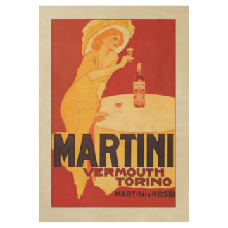 Martini Poster Wood Poster