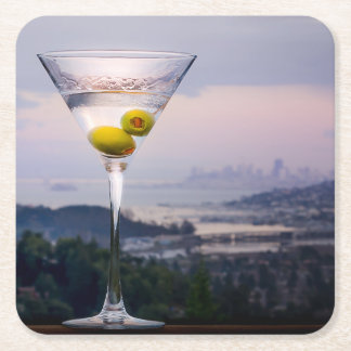 Martini & San Francisco Square Paper Coaster