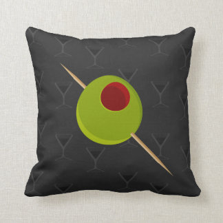Martini Time Black Pillow