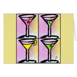 """""""Martini Time"""" Four Fun Martinis Print Card"""