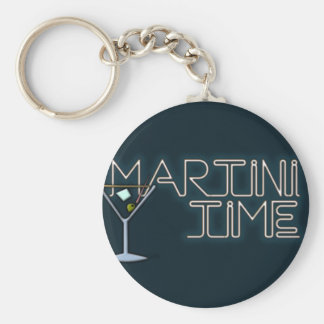 Martini Time Key Ring