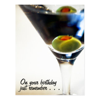 Martini time! postcard