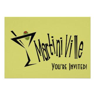 Martini Ville Personalized Invitations