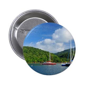 Martinique 6 Cm Round Badge