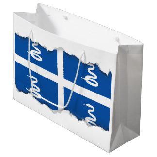 Martinique flag large gift bag