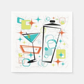 Martinis A Go-Go Cocktail Napkins Disposable Serviettes