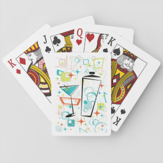 Martinis A Go-Go Playing Cards