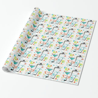 Martinis A Go-Go Wrapping Paper