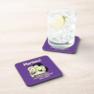 Martinis: Helping Lower Standards Beverage Coaster