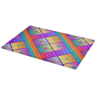 MARTINIS Pop Art GLASS CUTTING BOARDS