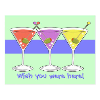 Martinis Postcard