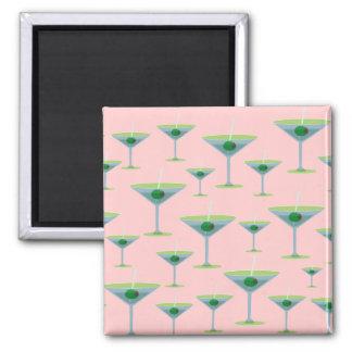 Martinis Square Magnet