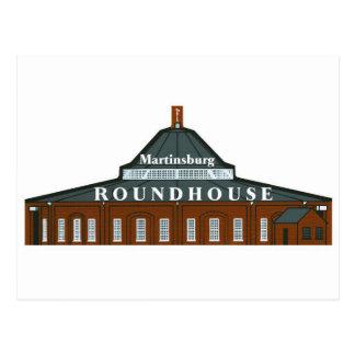 Martinsburg Roundhouse Postcard