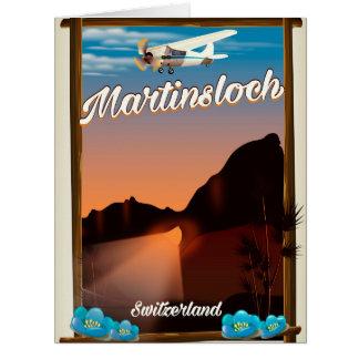 Martinsloch Switzerland travel poster Card