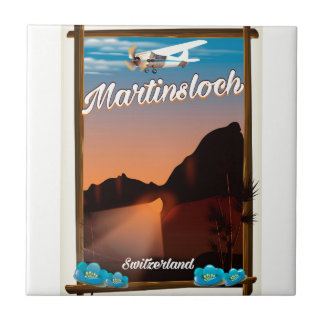 Martinsloch Switzerland travel poster Tile