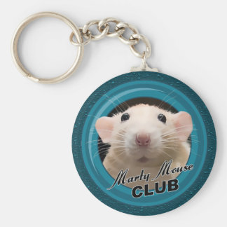 Marty Mouse Club Button Keychain