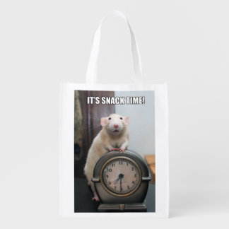 "Marty Mouse ""It's Snack Time"" Reusable Bag"