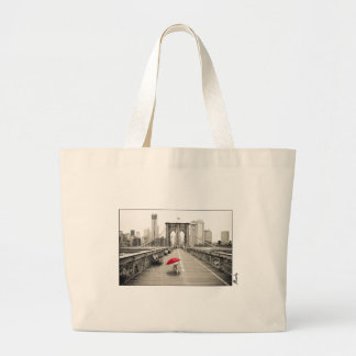 Marty Mouse on the Brooklyn Bridge Tote Bag