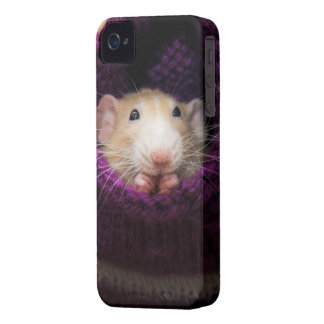 Marty Mouse Purple Sock iPhone 4 Case