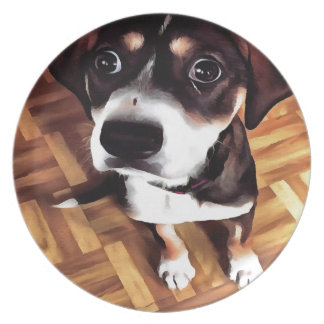 Marty The Soulful Eyed Dog Plate