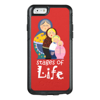 Martyoshka Stages Of Life Red Background OtterBox iPhone 6/6s Case