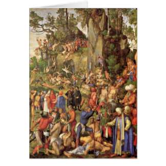 Martyrdom Of Christians By Albrecht Durer Greeting Card