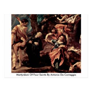 Martyrdom Of Four Saints By Antonio Da Correggio Postcard